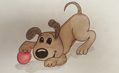 Drawing of a Puppy by Andrea's Daughter